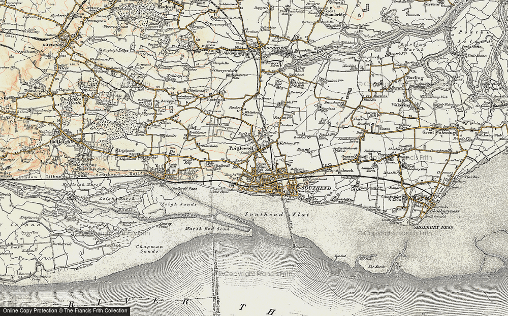 Old Map of Historic Map covering Grampian in 1898