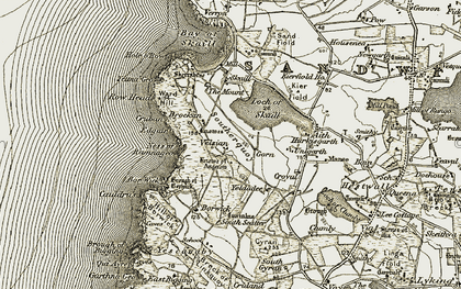 Old map of Yettna Geo in 1912