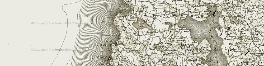 Old map of Aith in 1912