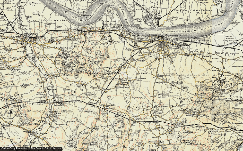 Old Map of Historic Map covering Vagniacis in 1897-1898