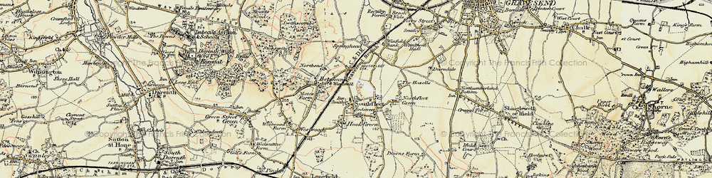 Old map of Vagniacis in 1897-1898