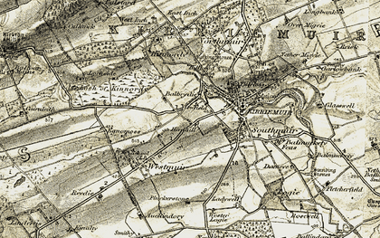 Old map of Balbrydie in 1907-1908
