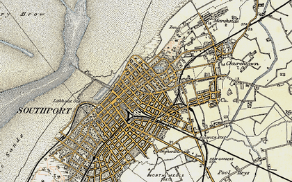 Old map of Southport in 1902-1903