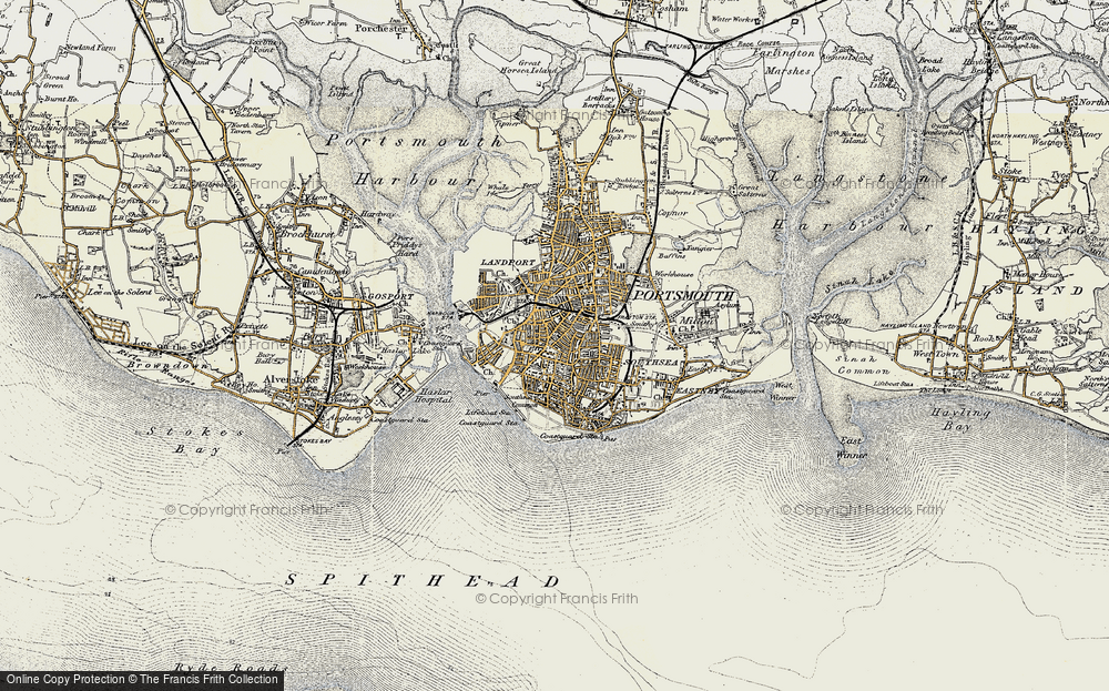 Old Map of Southsea, 1897-1899 in 1897-1899