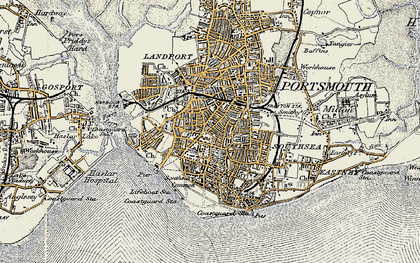 Old map of Southsea in 1897-1899