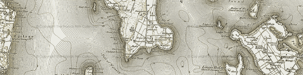 Old map of Whitemaw Bay in 1912