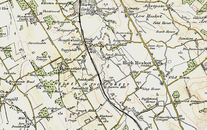Old map of Ling Cotts in 1901-1904