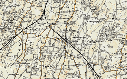 Old map of Southwater in 1898