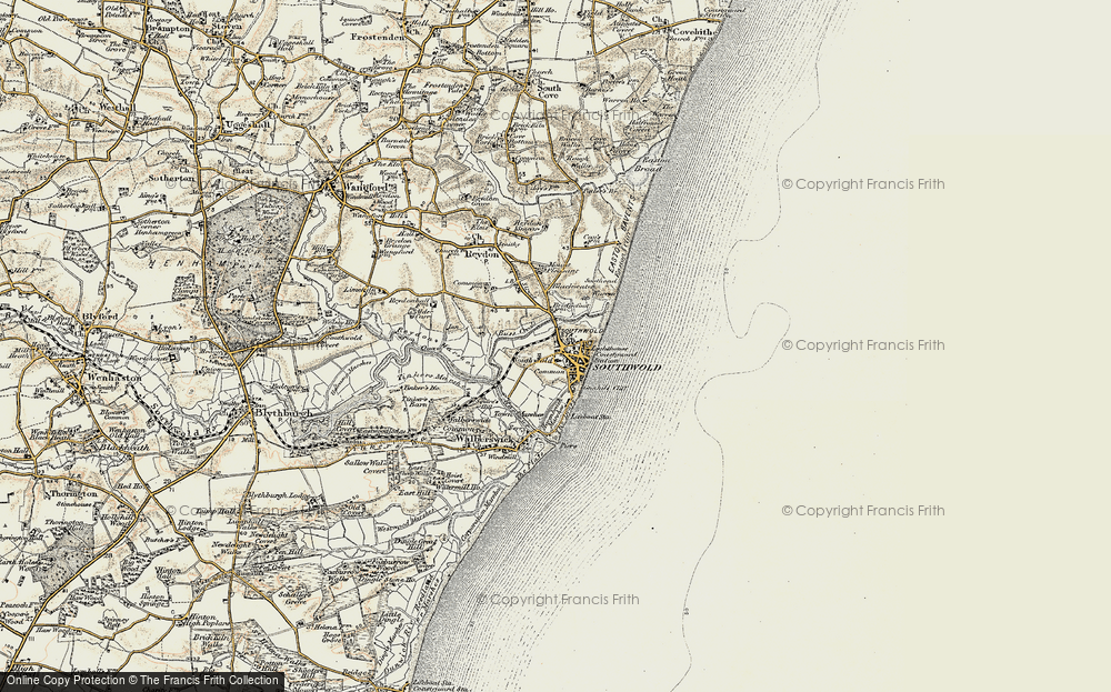 Old Map of Southwold, 1901-1902 in 1901-1902