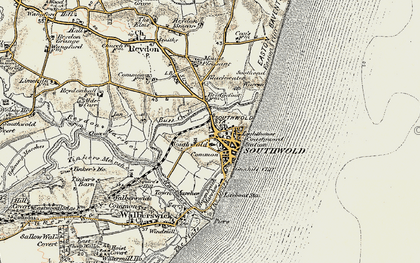 Old map of Southwold in 1901-1902