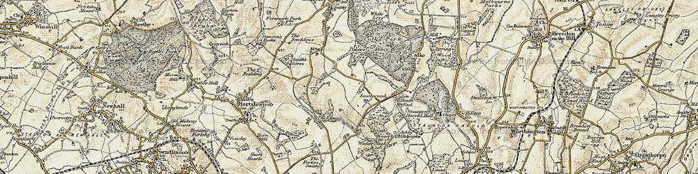 Old map of Wicket Nook in 1902-1903