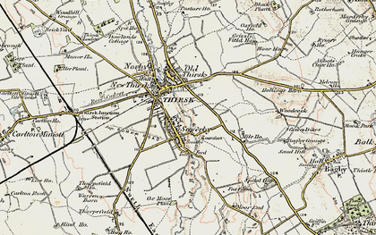Old map of Sowerby in 1903-1904