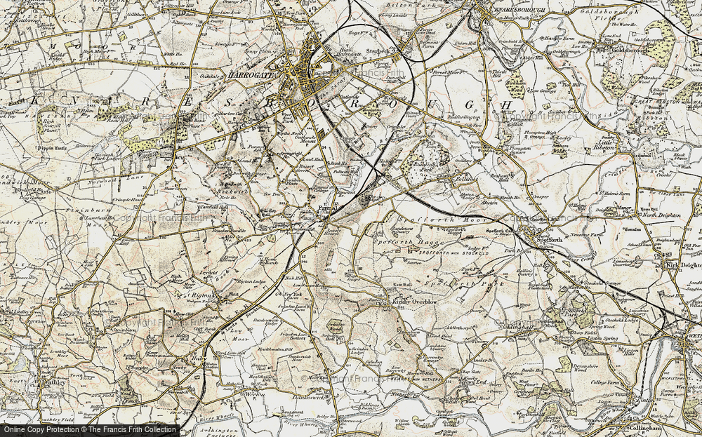 Old Map of Historic Map covering Almsford Br in 1903-1904