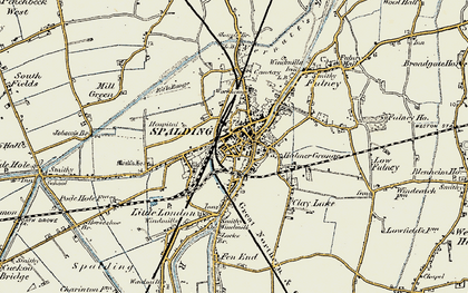 Old map of Spalding in 1901-1903