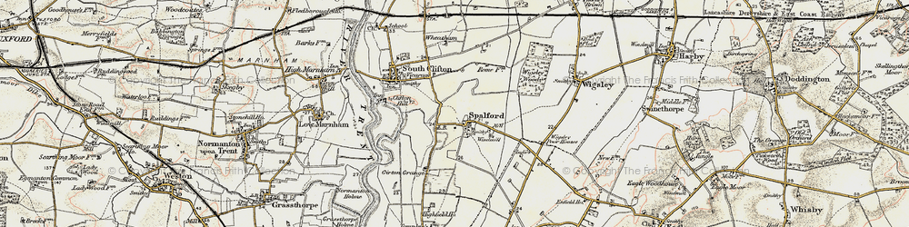 Old map of Wigsley Wood in 1902-1903