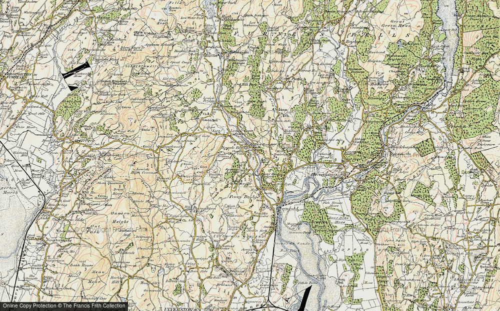 Old Map of Historic Map covering Thurston Ville in 1903-1904