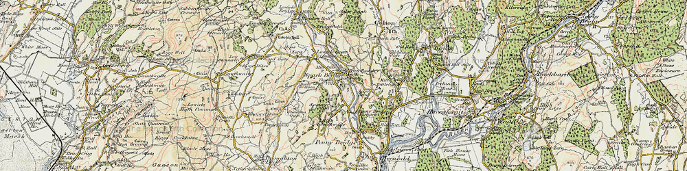 Old map of Thurston Ville in 1903-1904