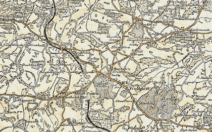 Old map of Sparrow's Green in 1898