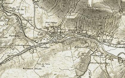 Old map of Tirindrish in 1906-1908