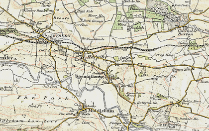 Old map of Spennithorne in 1904