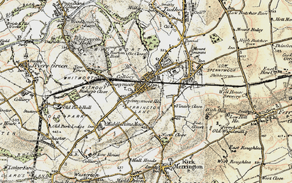 Old map of Spennymoor in 1903-1904