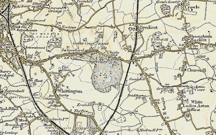 Old map of Spetchley in 1899-1901