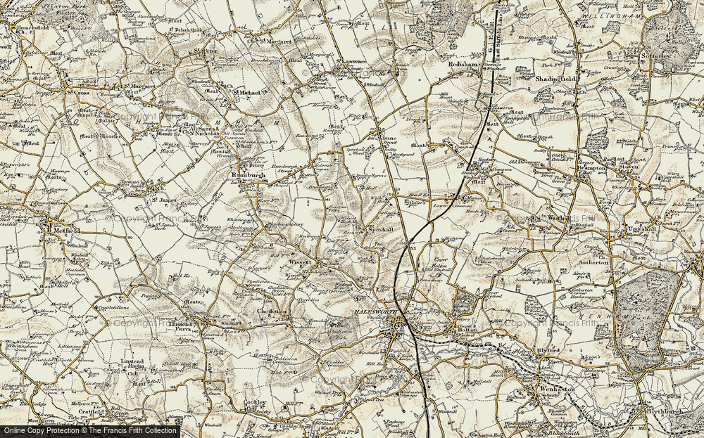 Old Map of Spexhall, 1901-1902 in 1901-1902