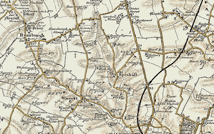 Old map of Aldous's Corner in 1901-1902