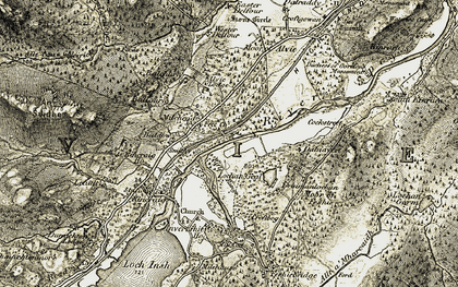 Old map of Wester Delfour in 1908
