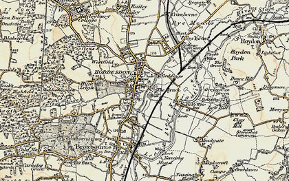 Old map of Spitalbrook in 1898