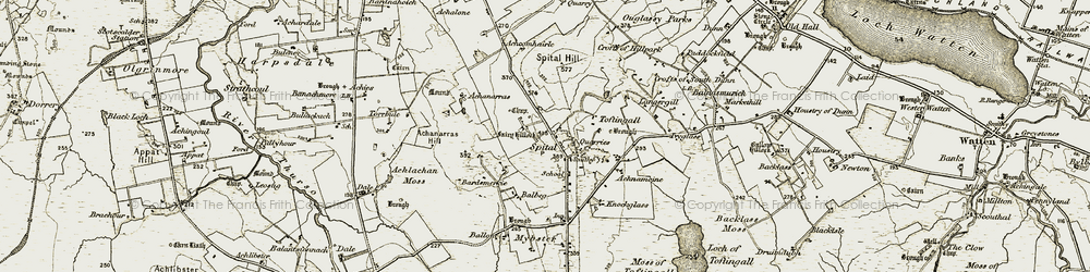 Old map of Achcomhairle in 1911-1912