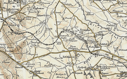 Old map of Splatt in 1900