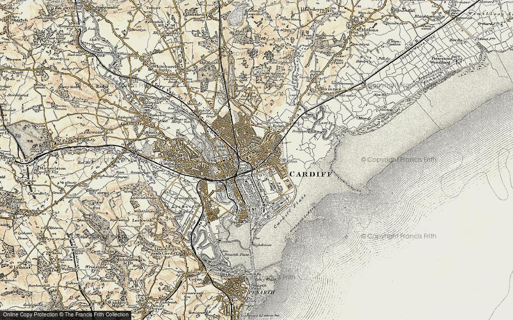 Old Map of Splott, 1899-1900 in 1899-1900