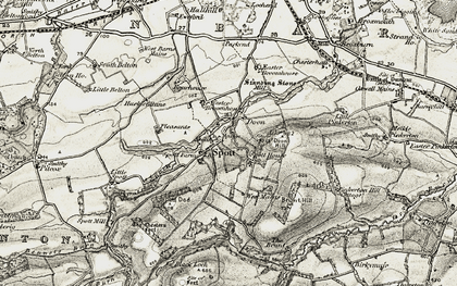 Old map of Woodhall Burn in 1901-1906