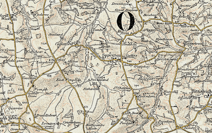 Old map of Allison in 1899-1900