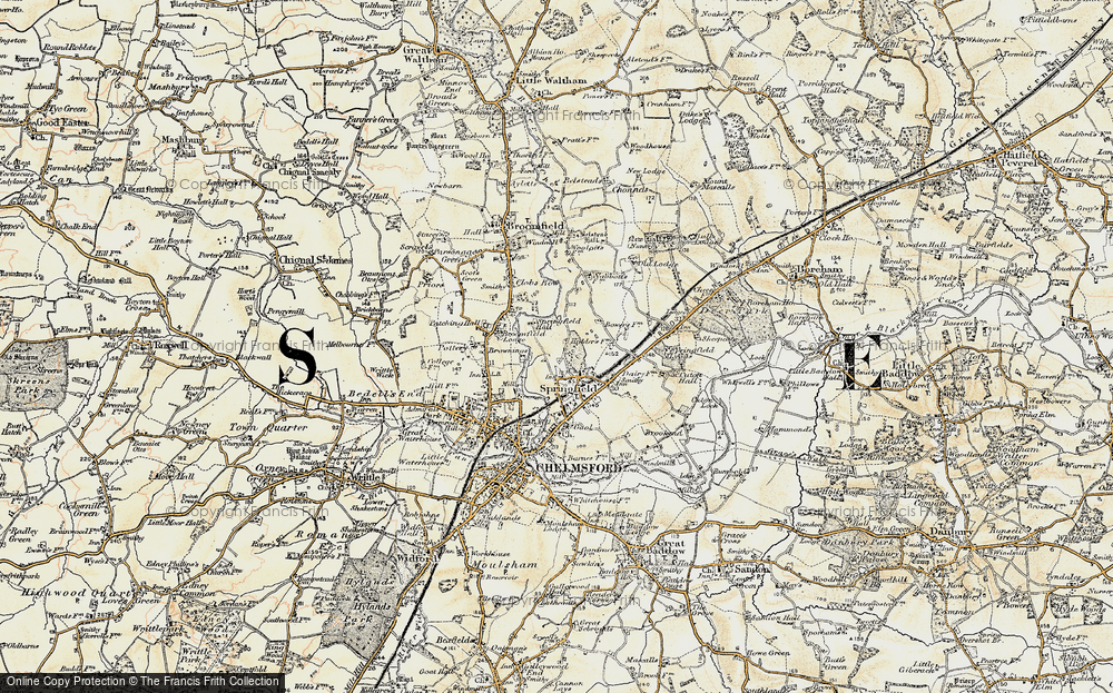 Old Map of Springfield, 1898 in 1898