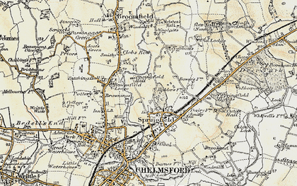 Old map of Springfield in 1898