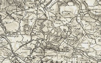 Old map of Ashyards in 1901-1904