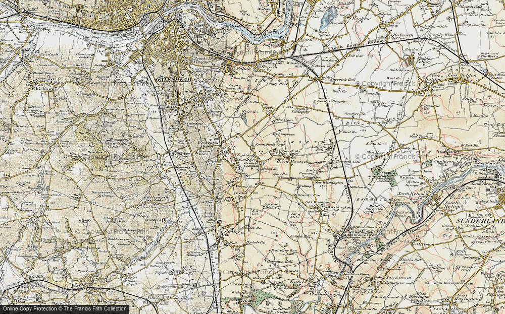 Old Map of Springwell, 1901-1904 in 1901-1904