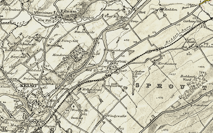 Old map of Whitmuirhaugh in 1901-1904