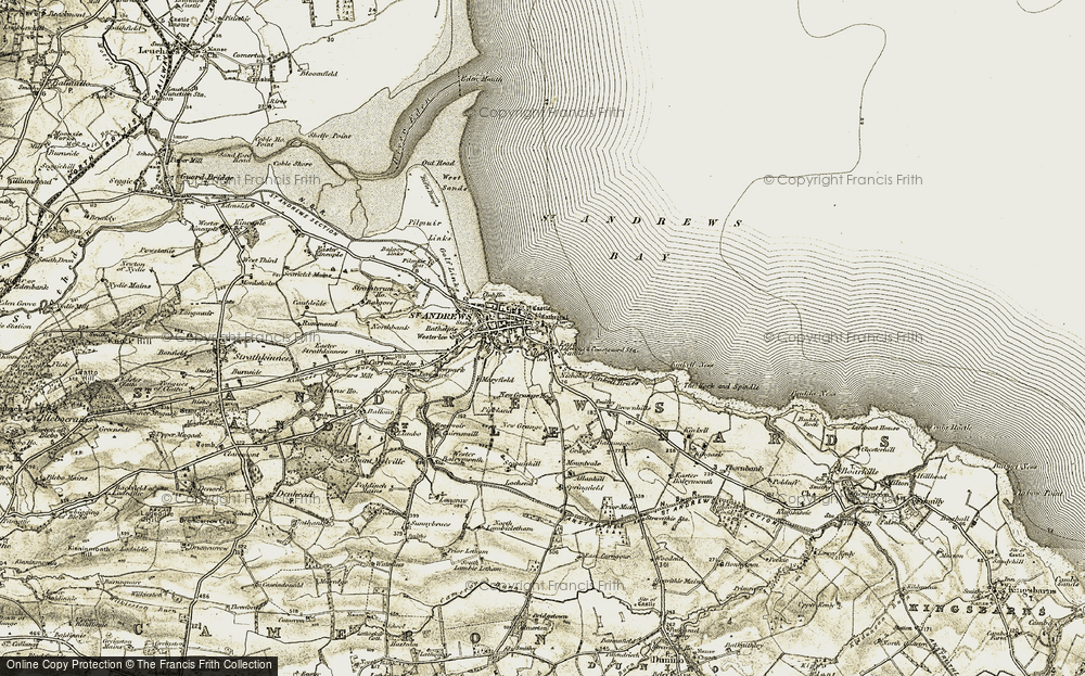 Old Map of St Andrews, 1906-1908 in 1906-1908