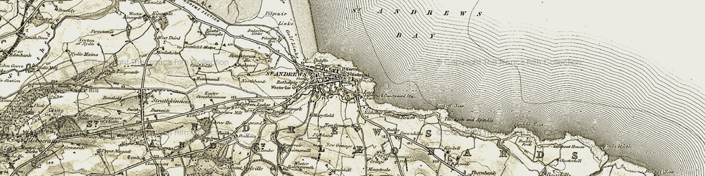 Old map of West Sands in 1906-1908