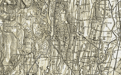 Old map of Williamson in 1901-1905