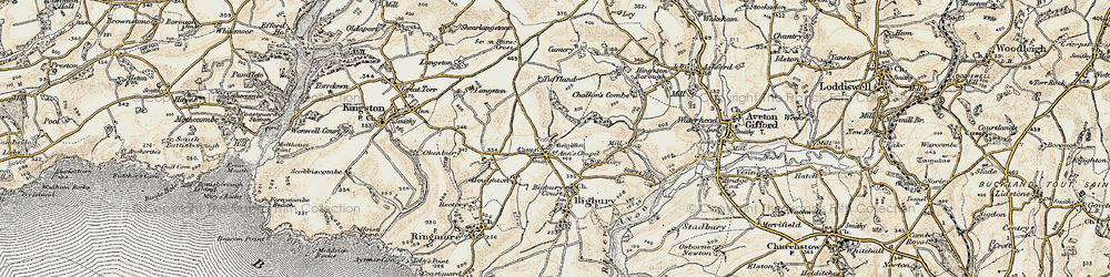 Old map of St Ann's Chapel in 1899-1900
