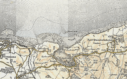 Old map of St Audrie's Bay in 1898-1900