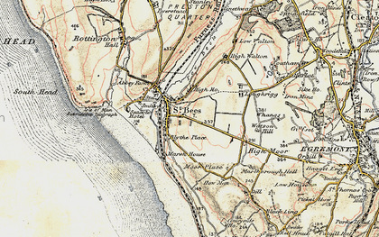 Old map of St Bees in 1903-1904