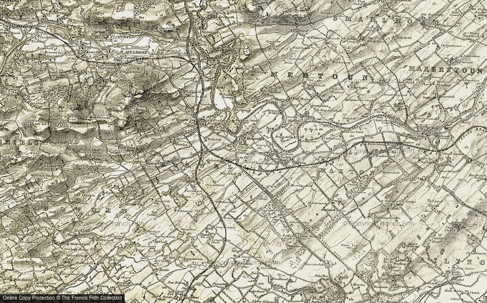 Old Map of St Boswells, 1901-1904 in 1901-1904