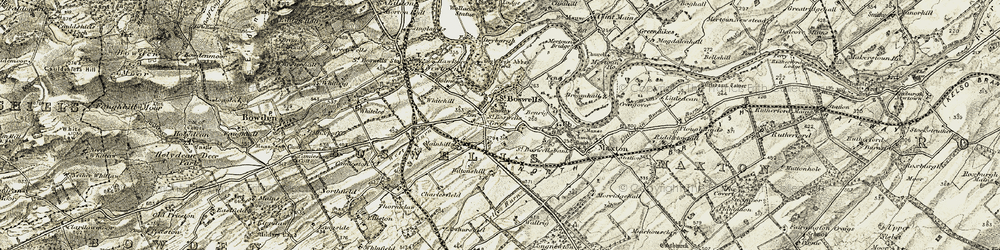 Old map of St Boswells in 1901-1904