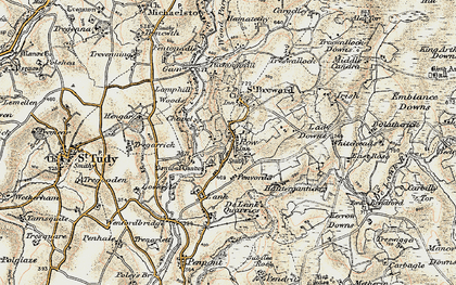 Old map of St Breward in 1900
