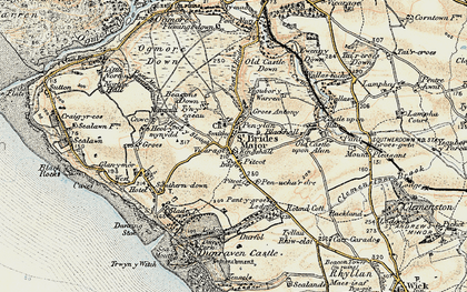 Old map of St Brides Major in 1900